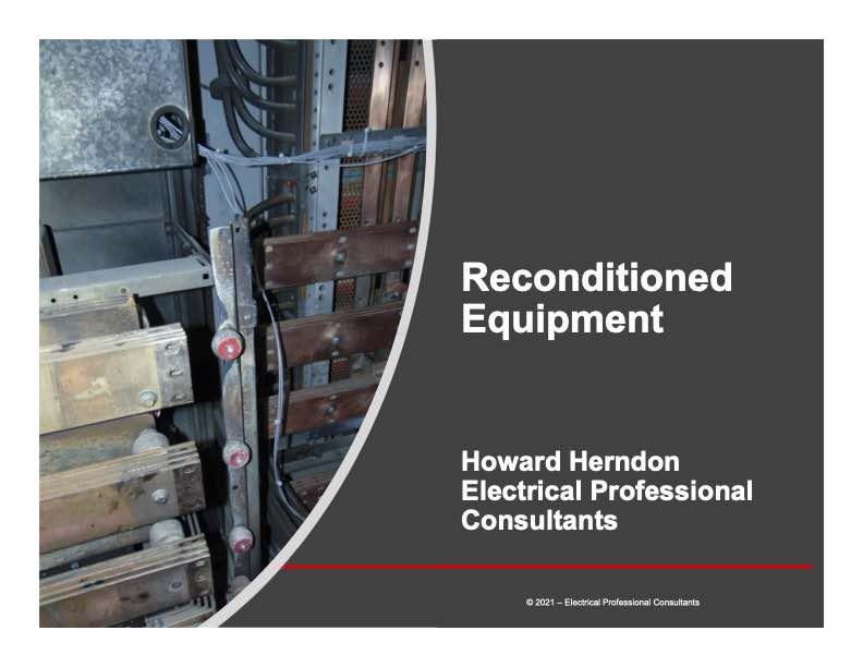 Reconditioned Equipment